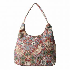 Hobo tas Strawberry Thief Red (William Morris)