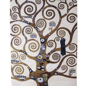 Exclusief wandkleed Tree of Life -Tree only - Gustav Klimt 138x 78 cm