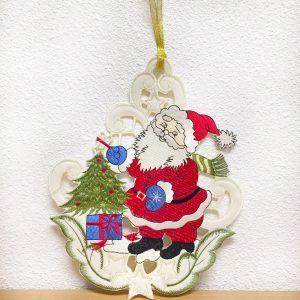 Kersthanger Kerstman met kerstboom