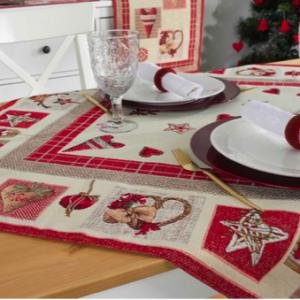 Tafelkleed, luxe gobelin, Kerst Crafts