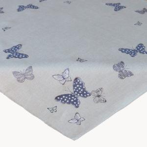 Tafelkleed grijs met vlinder
