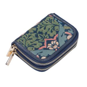 Portemonnee Credit Card houder Strawberry blauw - William Morris