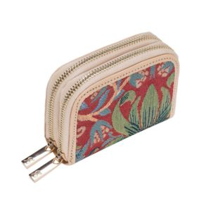 Portemonnee Credit Card houder Strawberry rood - William Morris