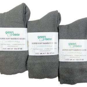 Bamboe sokken 1 paar - Grijs -Maat 37-40