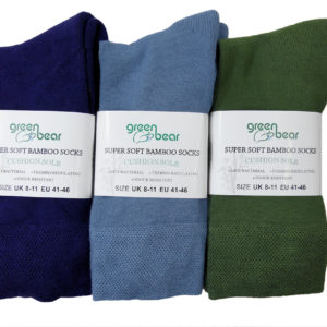 Bamboe sokken 3 paar in Blauw - Licht Blauw - Groen