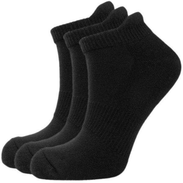 Bamboe sneaker sokken 3 paar wit en/of zwart