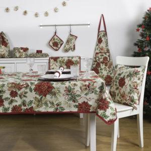 Tafelkleed, luxe gobelin, Christmas Happiness