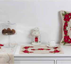 Tafelkleed, luxe gobelin, Kerst Merry Christmas