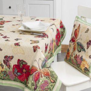 Tafelkleed - luxe gobelin - Vlinder