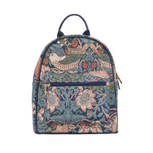 Daypack rugtas Strawberry Blauw - William Morris