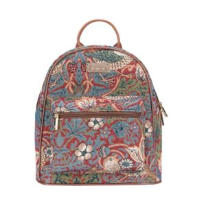 Daypack rugtas Strawberry rood - William Morris
