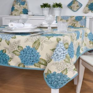 Tafelkleed - luxe gobelin - Hortensia