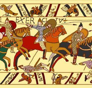 Wandkleed Bayeux - Hastings Battle - 45 x 151 cm
