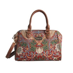Bowler bag Strawberry Thief Red (William Morris)