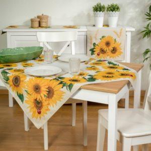Tafelkleed - luxe gobelin - Zonnebloem