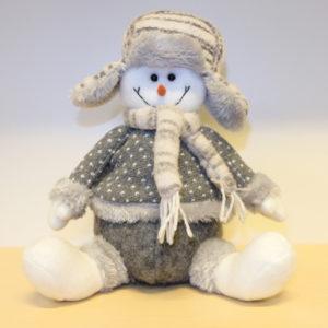 Kerst - Decoratie sneeuwpop - 20 cm