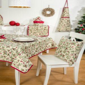 Kerst - Tafelkleed - luxe gobelinstof - Christmas Berries - All over