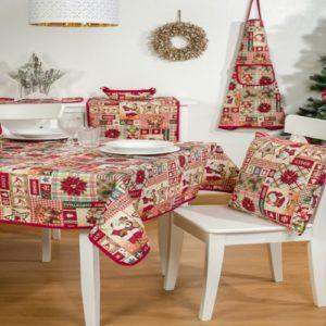 Kerst - Tafelkleed - luxe gobelinstof - Holly