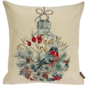 Kussenhoes Christmas Robin (1) - Roodborstje - Vogel