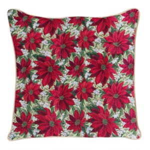 Kussenhoes - Xmass - Poinsettias - Kerstster