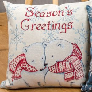 Kussenhoes Ijsberen - Seasons's Greetings - Ice bear