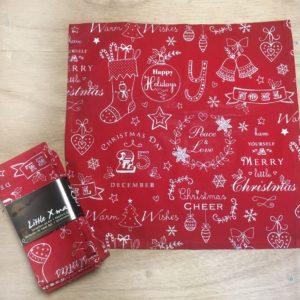 Kerst servetten set Rood van katoen - 6 stuks - 40 x 40 cm