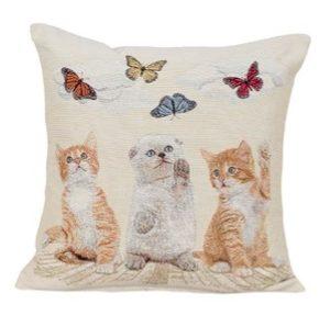 Katten met vlinders