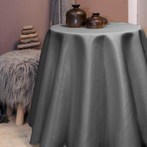 Unique Living – Tafelkleed 170cm rond – grijs