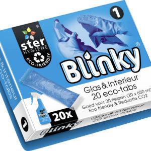Blinky - Glas en Interieurreiniger - 1 - 20 Eco schoonmaaktabs - sachets