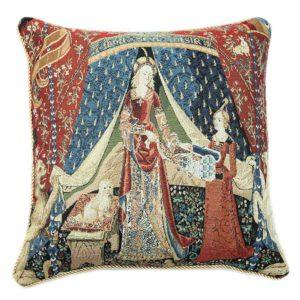 Kunst kussenhoes - Lady en Unicorn - Dame en de Eenhoorn - A Mon Seul Desir