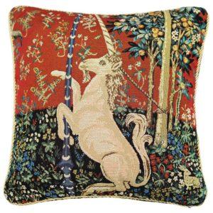 Kunst kussenhoes - Lady en Unicorn - Dame en de Eenhoorn - Unicorn