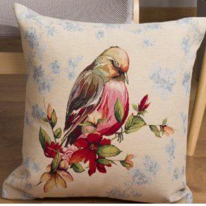 Kussenhoes - Luxe gobelinstof - Bird 2 - Vogel - Kopje omlaag