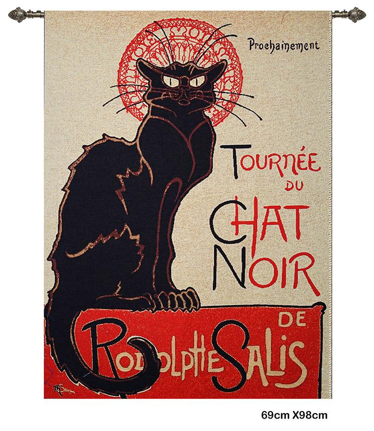 Wandkleed Tournée du Chat noir – T.A. Steinlen - 69 x 98 cm