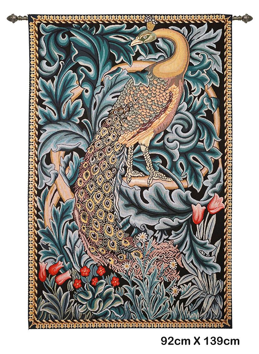 Wandkleed- Peacock - Pauw - William Morris - 92 x 139 cm