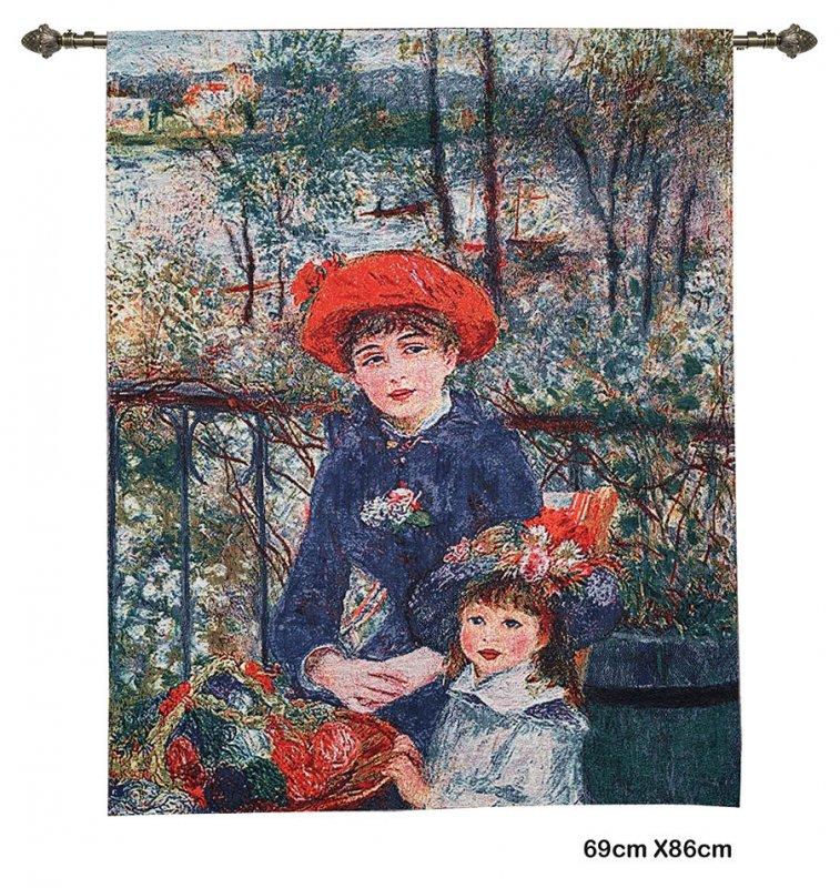 Wandkleed – Two sisters – Twee zusjes – Pierre-Auguste Renoir