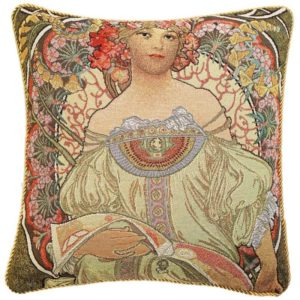 Kunst kussenhoes - Reverie - Daydream - Alphonse Mucha